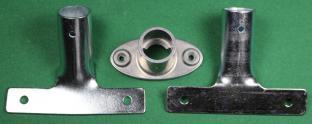 Stielhalterung Metall schräg